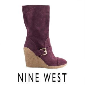 Nine West Darren Wine Color Mid-Calf Boot